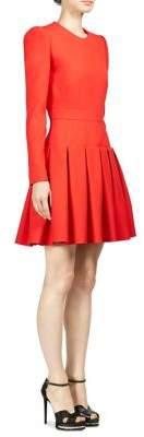 Alexander McQueen Pleated A-Line Dress
