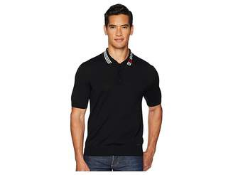 DSQUARED2 Contrast Collar Sweater Polo