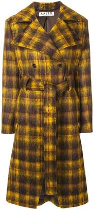 Aalto checked belted coat