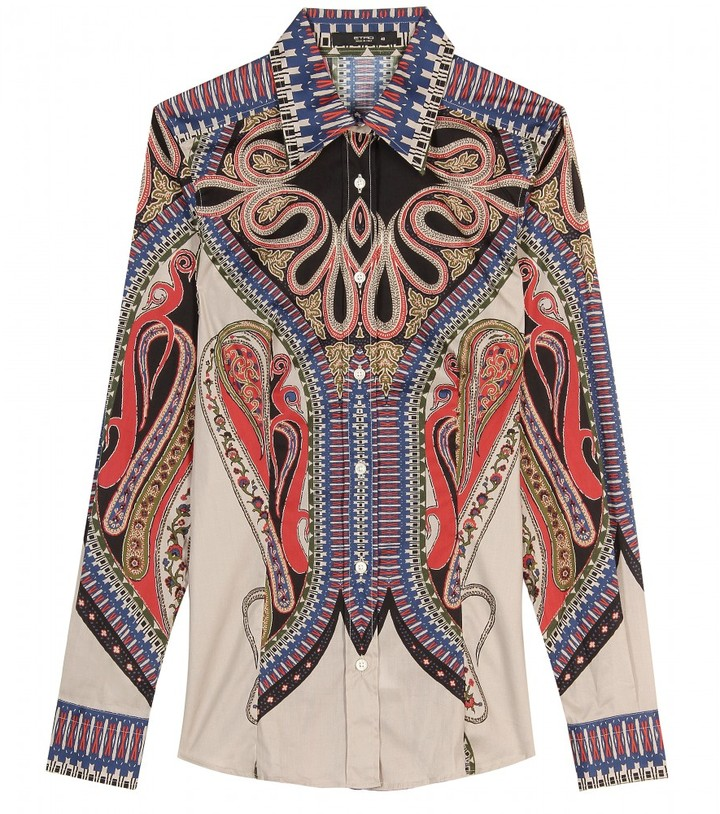 Etro PAISLEY PRINT BUTTON-DOWN SHIRT