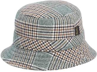 Borsalino Checkered Wool Blend Bucket Hat