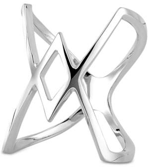 Sarah Chloe Geometric Statement Ring in 14k Gold-Plated Sterling Silver (Also available in Sterling Silver)