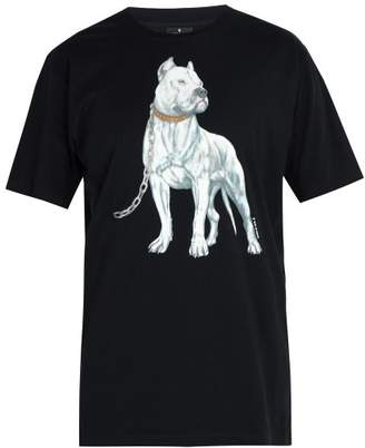 Marcelo Burlon County of Milan Dogo Print Cotton T Shirt - Mens - Black