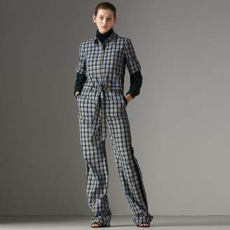 Burberry Check Cotton Silk Jumpsuit