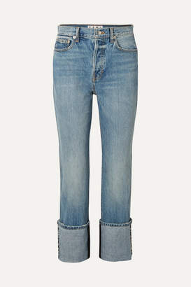 Proenza Schouler Pswl High-rise Straight-leg Jeans - Light blue