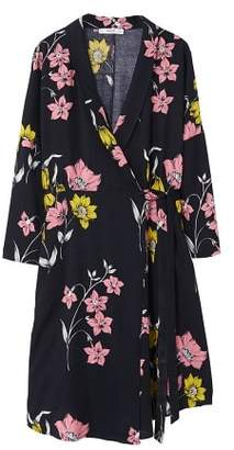 MANGO Floral wrap dress