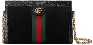 Gucci Black Ophidia small suede shoulder bag