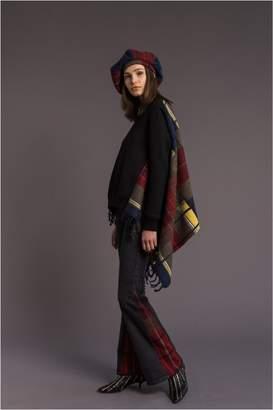 Sonia Rykiel Tartan Pattern Fleece Sweatshirt