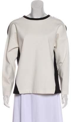 Akris Punto Colorblock Long Sleeve Sweatshirt