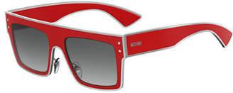 Moschino Square Two-Tone Acetate Sunglasses