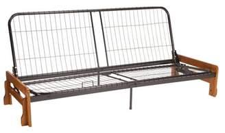 Comfort Style Phoenix Futon Sofa Sleeper Bed Frame, Full-size, Medium Oak Arms