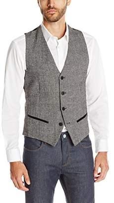 GUESS Men's Laurel Tweed Vest