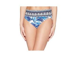 Tommy Bahama Fuller Fronds High-Waist Bikini Bottom Women's Swimwear