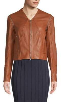 Jonathan Simkhai Detachable-Sleeve Leather Jacket