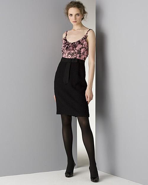 Milly Women's Rosette Combo Dress