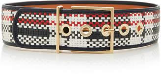 MAISON BOINET Plaid Waist Belt