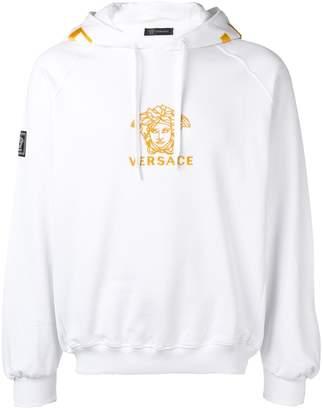 Versace embroidered Medusa logo hoodie