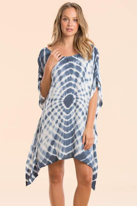 Elan International Tiedye Poncho Coverup