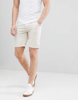 Bellfield Slim Fit Chino Shorts In Beige
