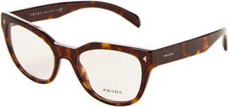 Prada VPR 21S Tortoiseshell-Look Cat Eye Optical Frames