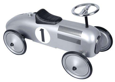 Schylling Metal Speedster - Silver Race Car