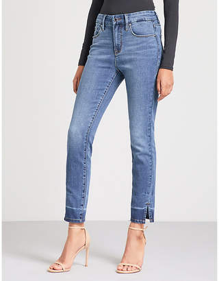 Good American Good Legs Crop Slit high-rise straight jeans