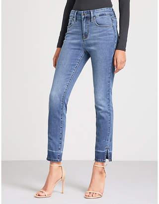 Good American Good Legs Crop Slit high-rise straight jeans