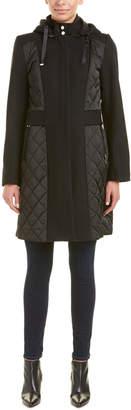 T Tahari Kylie Wool-Blend Coat