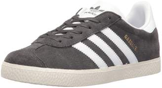 adidas Youth Gazelle Dark Grey Suede Trainers 5.5 US