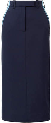 Striped Cady Midi Skirt - Midnight blue