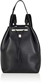 The Row Women's Leather Drawstring Backpack 11-Black