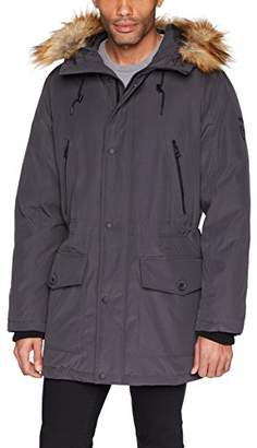 GUESS Men's Long Parka with Removable Fur