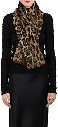 Barneys New York Women's Leopard-Print Fur Scarf