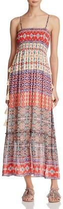 Love Sam Smocked Pattern Block Maxi Dress $285 thestylecure.com
