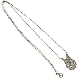 Platinum Old European Cut Diamond Necklace