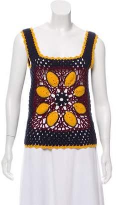 Tory Burch Cashmere Crochet Top