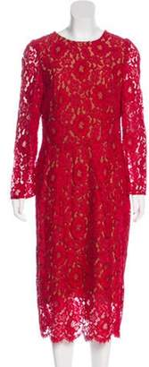 Dolce & Gabbana Lace Sheath Dress Red Lace Sheath Dress