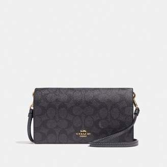 Coach Hayden Foldover Crossbody Clutch In Colorblock Signature Canvas
