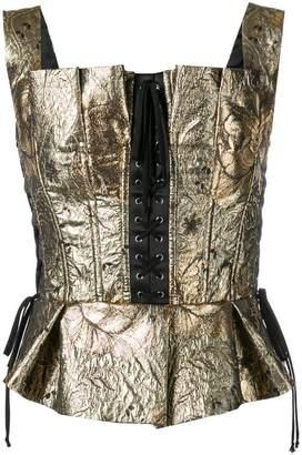 Dolce & Gabbana jacquard bustier top
