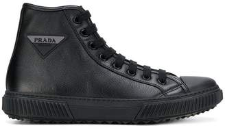 Prada ankle lace-up sneakers