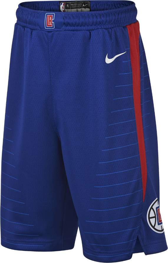 LA Clippers Icon Edition Swingman Big Kids' (Boys') NBA Shorts Size Large (Blue) - Clearance Sale