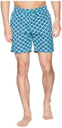 Mr.Swim Mr. Swim Parrots Printed Dale Swim Trunks Men's Swimwear