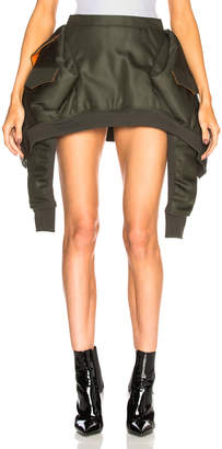 Helmut Lang x Shayne Oliver Bomber Skirt