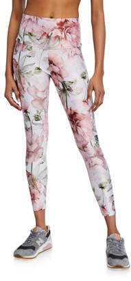Onzie Floral High Basic Midi Leggings