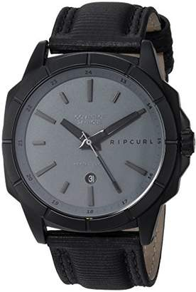 Rip Curl Men's Quartz Stainless Steel and Leather Sport Watch