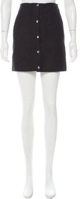 Carven Button Up Mini Skirt