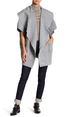 Roffe Accessories Drape Collar Pocket Kimono