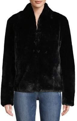 Context Faux Fur Button-Front Jacket