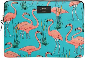 Flamingos Wouf - Pink Laptop Case - 33cm