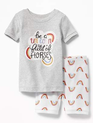 Old Navy Rainbow-Graphic Sleep Set for Toddler & Baby